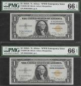 SM NORTH AFRICA TWO $1.00 1935A PMG 66 GEM UNC. Stock # S478PY